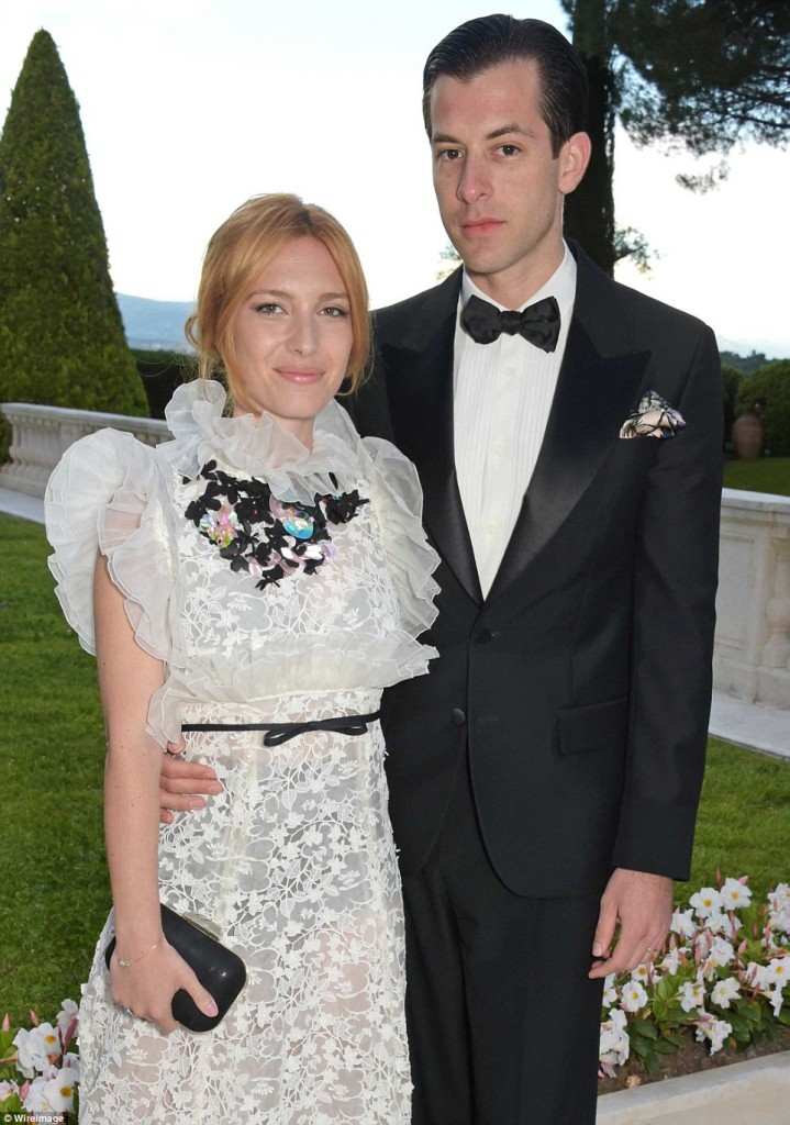 DJ Mark Ronson and his wife Joséphine