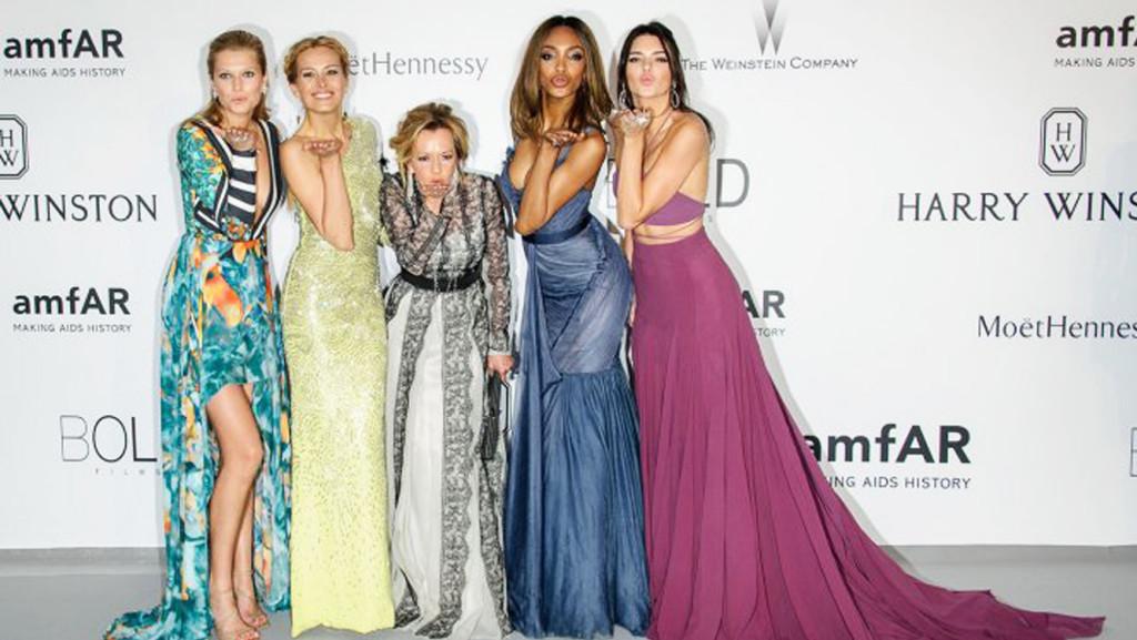 Toni Garrn, Petra Nemcova, Caroline Scheufele, Jourdan Dunn and Kendall Jenner