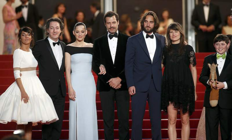 "Florence Foresti (actress), Guillaume Gallienne (actor), Marion Cotillard (actress), Laurent Lafitte (actor), Dimitri Rassam (Producer) and Camille (singer) at the screening of ""The Little Prince"""