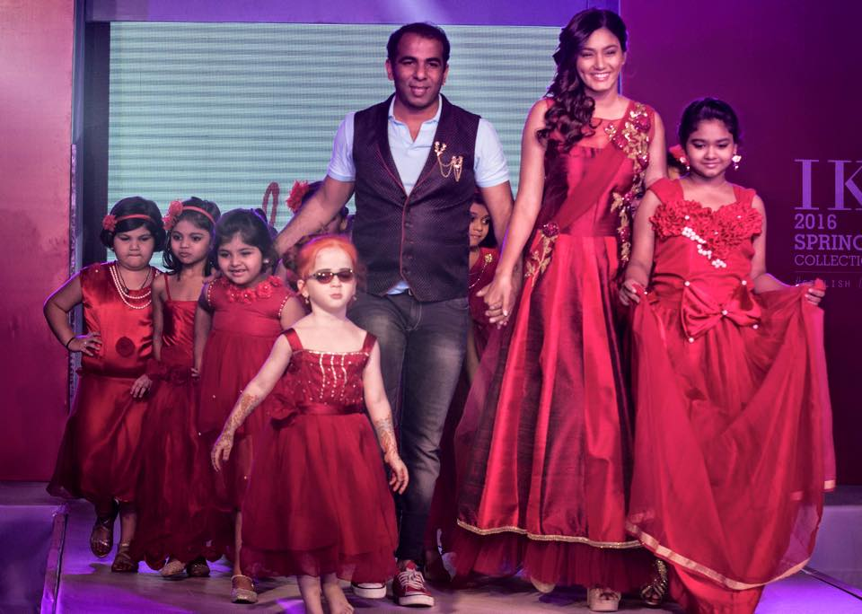 "TV Actress Sana Makbul Khan walks the ramp as the showstopper for Sharad Raghav's ""Laali"" collection at the India Kids Fashion Show (IKFS) Spring/Summer 2016"