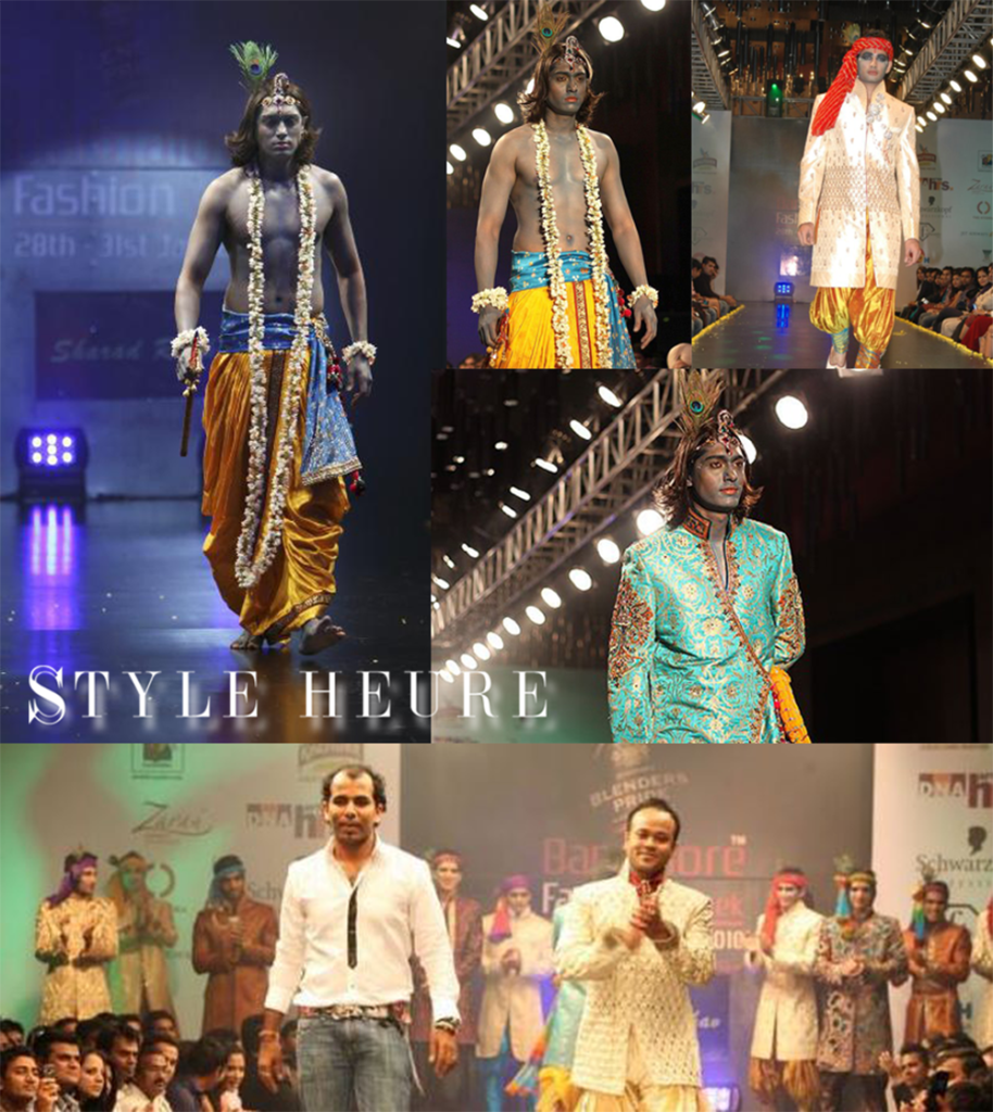 "Sharad Raghav's first collection titled ""KRISHNA"", showcased at the Bangalore Fashion Week 2010"