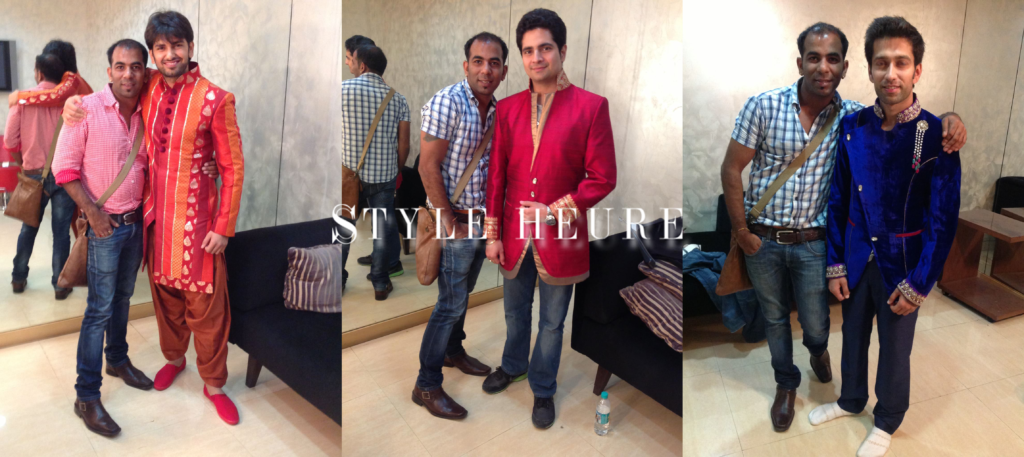 Star Parivar Awards 2013 TV Stars: Rahul Sharma, Karan Mehra and Nakuul Mehta wearing Sharad Raghav's designs