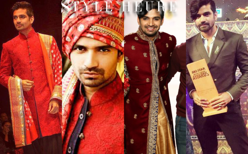 Vishal Singh wearing Sharad Raghav's creations